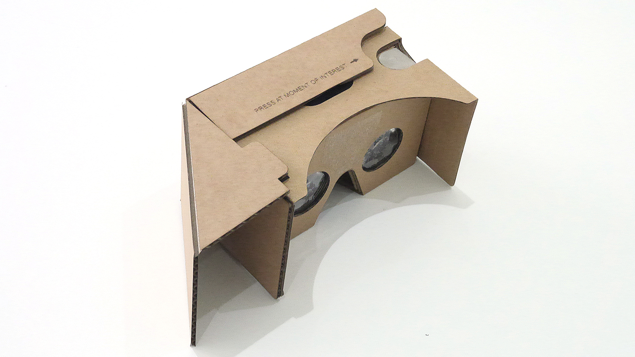 Modified Google Cardboard for passive sound amplification